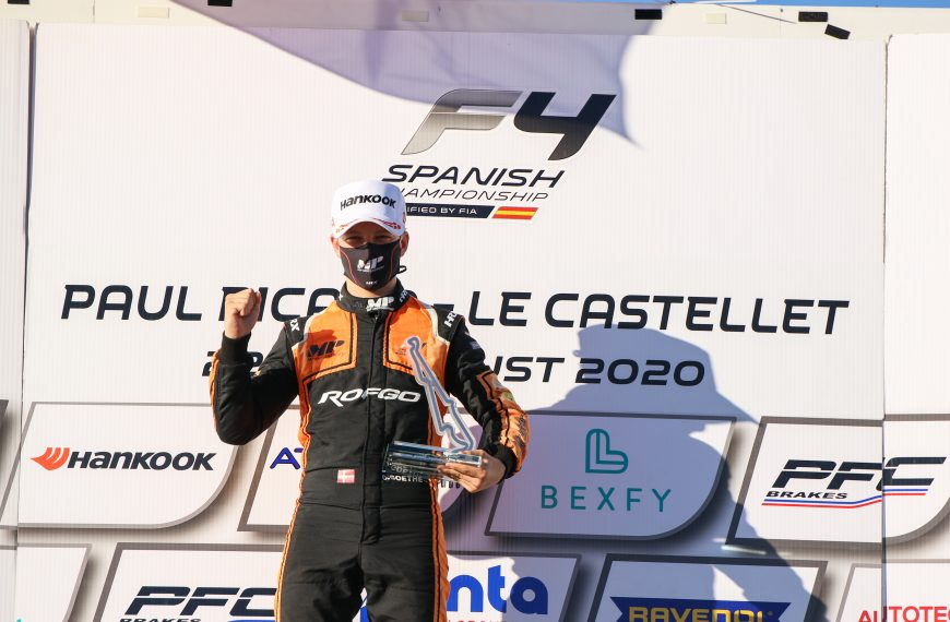 OLIVER GOETHE WINS HIS FIRST RACE IN CARS IN HIS SECOND EVENT WITH BULLET SPORTS MANAGEMENT